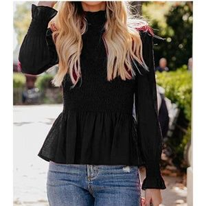 GAVRA High Neck Ruched Blouse